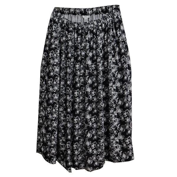 【中古】COMME des GARCONS COMME des GARCONS 2018AW 総花柄スカート ブラック×ホワイト サイズ:S 【251219】(コムデギャルソンコムデギャルソン)