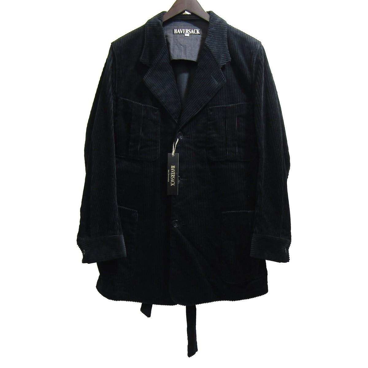 【中古】HAVERSACK コーデュロイローブジャケット ブラック サイズ:M 【271219】(ハバーサック)