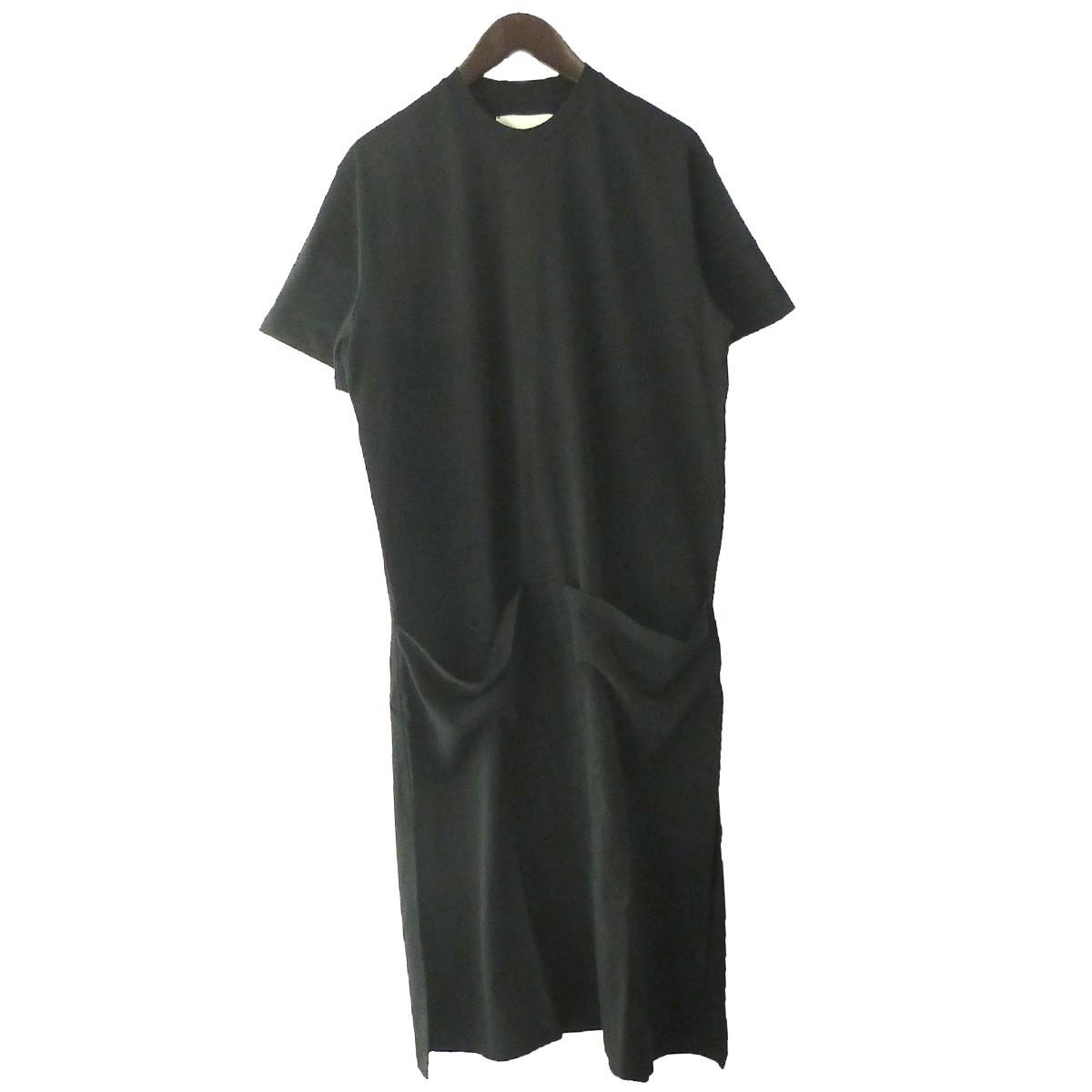 【中古】STUDIO NICHOLSON 「JERSEY DRESS」ジャージドレス ワンピース ブラック サイズ:1 【271219】(スタジオニコルソン)