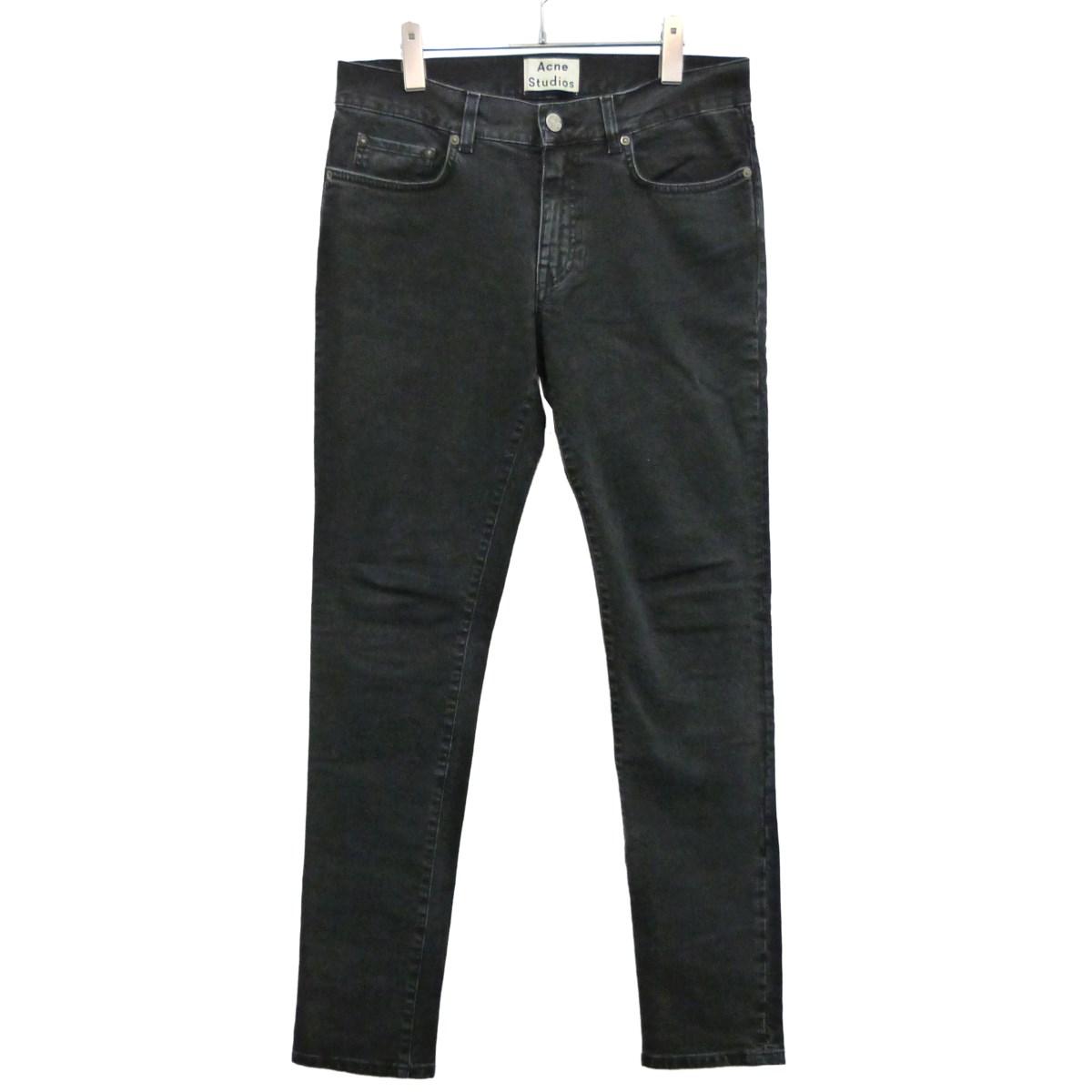 【中古】ACNE STUDIOS 「THIN USED NOIR」デニムパンツ ブラック サイズ:31×32 【271219】(アクネストゥディオズ)