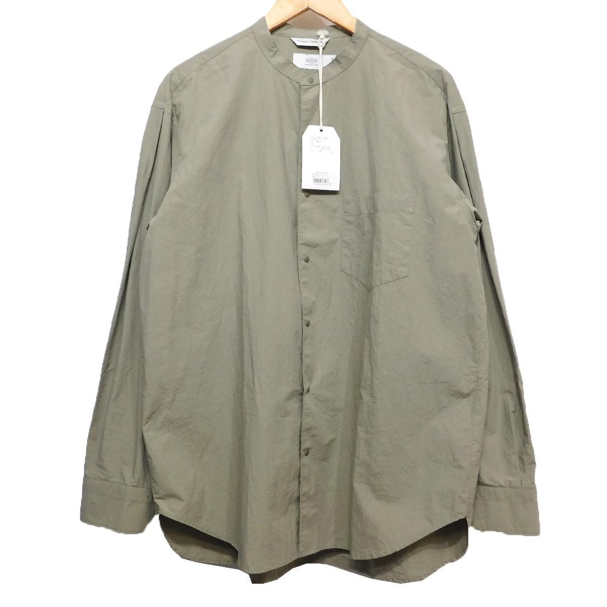【中古】WORK NOT WORK WTタックスリーブバンドカラーシャツ カーキ サイズ:L 【271219】(ワークノットワーク)