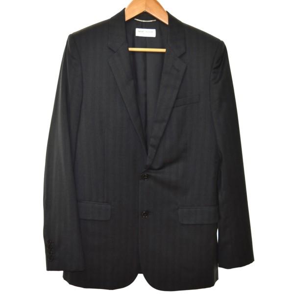 【中古】SAINT LAURENT PARIS13AW 330255 2Bテーラードジャケット ブラック サイズ:48 【3月30日見直し】