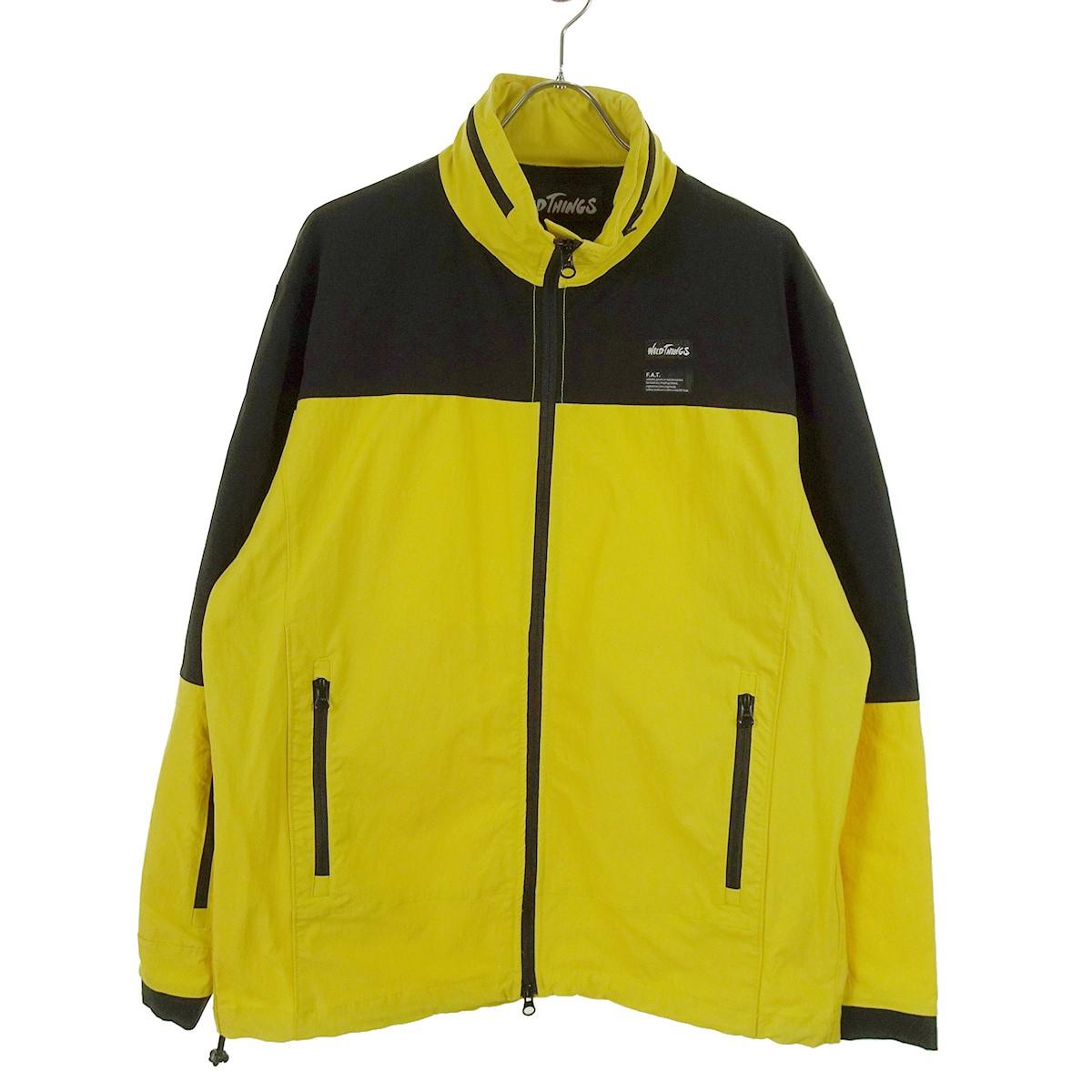 【中古】FAT×WILD THINGS Wildout Jacket ナイロンジャケット 19年モデル イエロー サイズ:SKINNY(L) 【281219】(エフエーティー×ワイルドシングス)