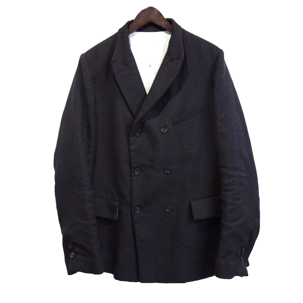【中古】Bergfabel ダブルジャケット ブラック サイズ:50 【281219】(バーグファベル)