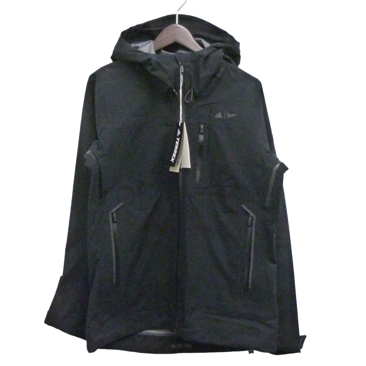 【中古】adidas×PARLEY 19AW「Climaproof 3L Jacket」TERREXクライマプルーフジャケット ブラック サイズ:M 【291219】(アディダス×パーレイ)