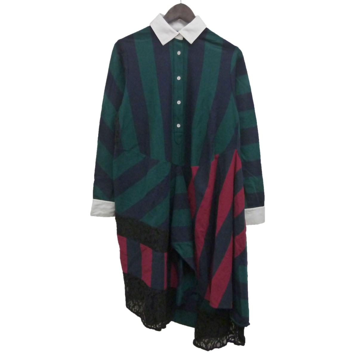 【中古】KOCHE「Oversized Polo Dress」オーバーサイズポロドレス グリーン サイズ:34