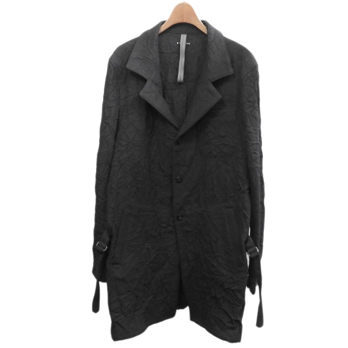 【中古】STRUMキャッチワッシャーロングジャケット ブラック サイズ:L 【4月2日見直し】