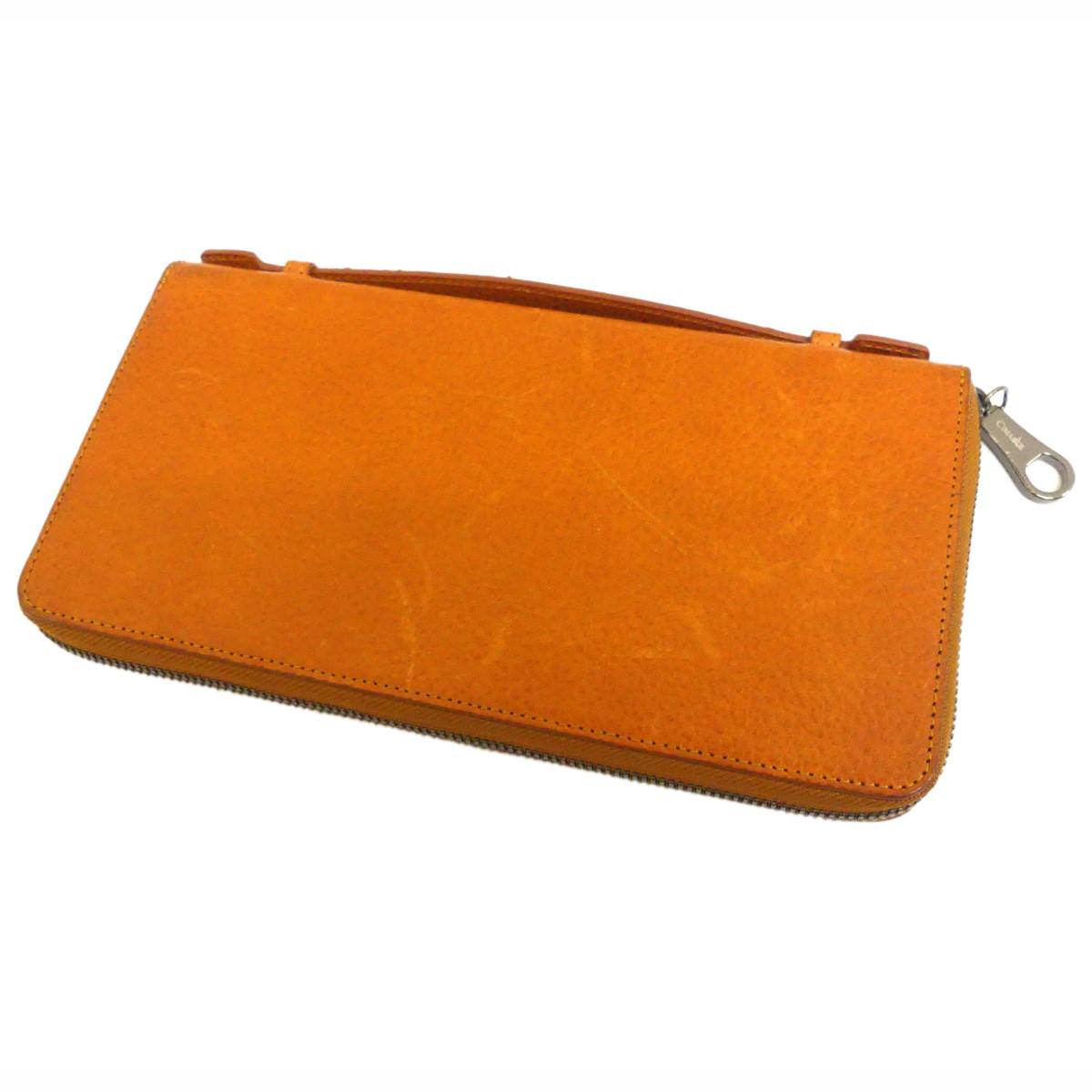 【中古】CIMABUE Shrunken Calf 長財布 オレンジ サイズ:- 【030120】(チマブエ)