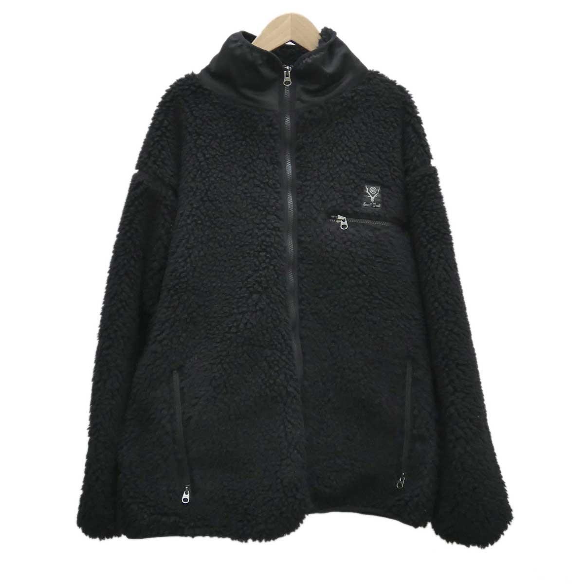 【中古】S2W8 ボアジップアップジャケット D1813 ブラック サイズ:S 【030120】(エスツーダブルエイト)