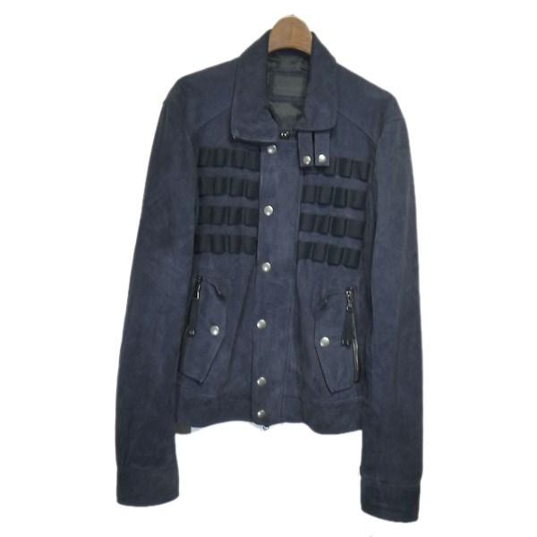 【中古】DIESEL BLACK GOLD スウェードジャケット ネイビー サイズ:50 【030120】(ディーゼル ブラック ゴールド)