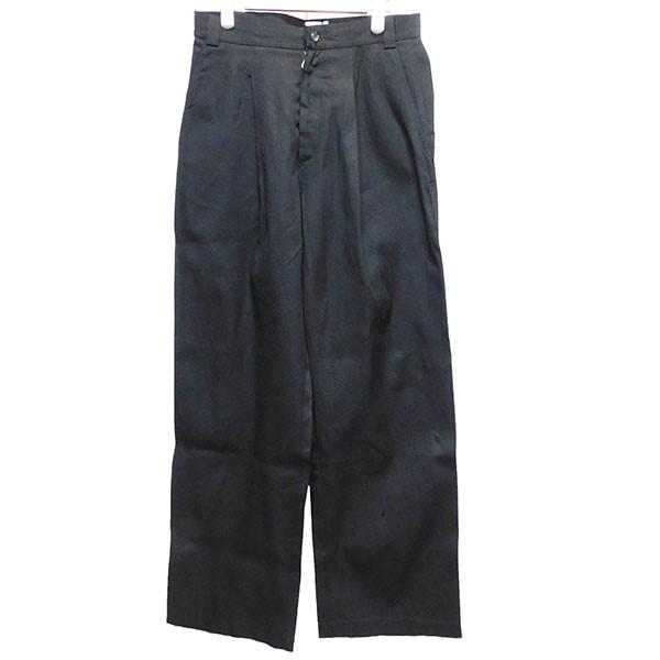 【中古】TONSURE19SS タックワイドパンツ ブラック サイズ:44 【3月30日見直し】
