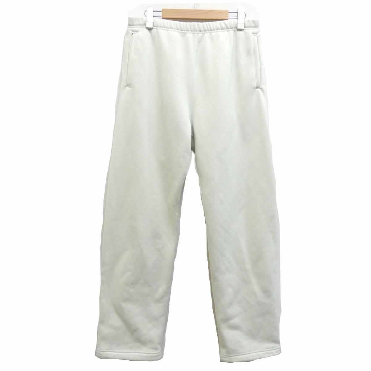 【中古】AURALEE2019AW BAGGY POLYESTER SWEAT PANTS スウェットパンツ ミントグリーン サイズ:3 【3月30日見直し】
