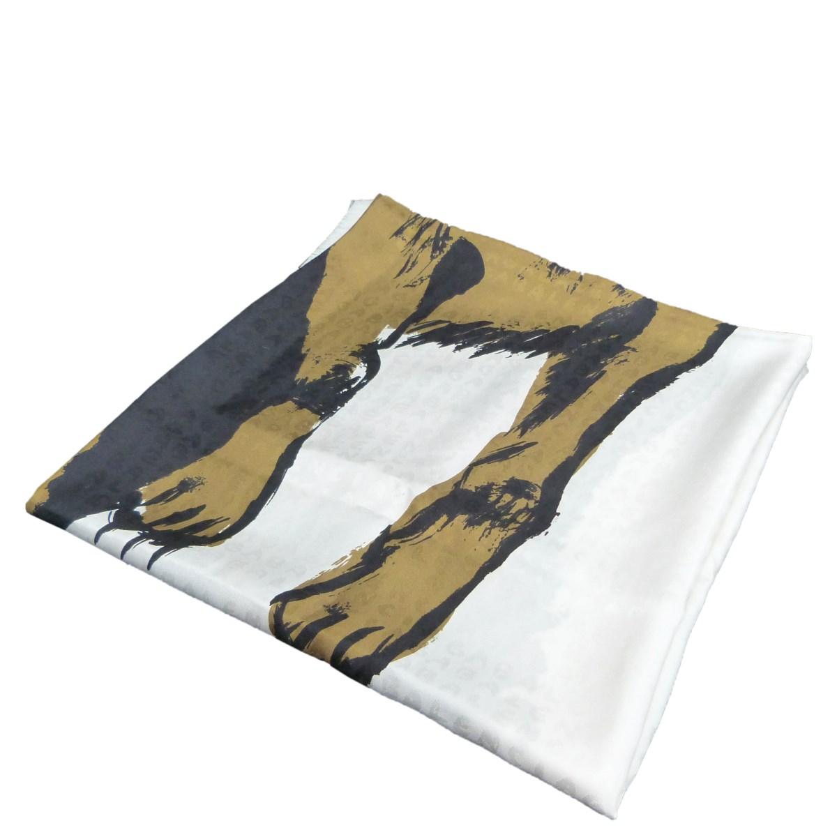 【中古】BALENCIAGA タイガープリント大判ストール ホワイト サイズ:- 【070120】(バレンシアガ)