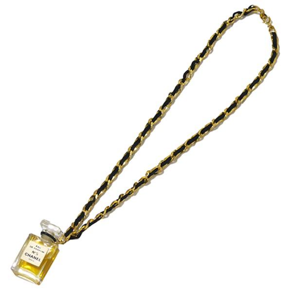【中古】CHANEL チェーンネックレス 香水ペンダント No5 ゴールド ブラック ゴールド×ブラック サイズ:- 【070120】(シャネル)