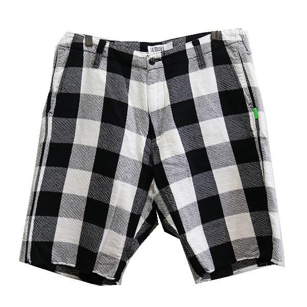 【中古】SEQUELPAJAMAS SHORT PANTS ショートパンツ ホワイト×ブラック サイズ:XL 【3月12日見直し】