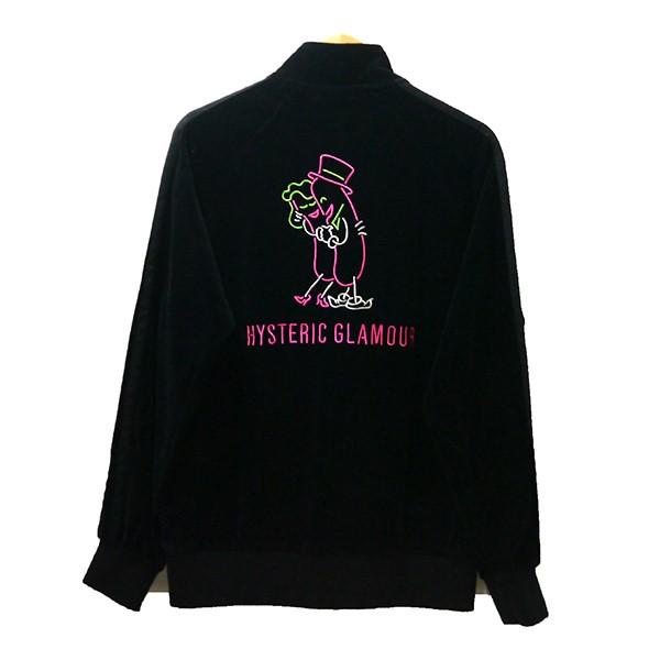 【中古】HYSTERIC GLAMOUR × 野口強2019AW NIGHT GROOVE刺繍トラックジャケット 02193CJ01 ブラック サイズ:M 【4月6日見直し】