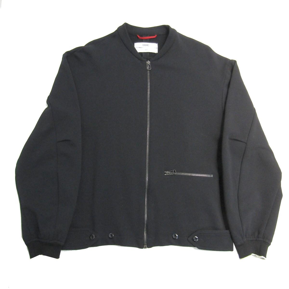 【中古】OAMCノーカラージップアップジャケット ブラック サイズ:S 【3月30日見直し】