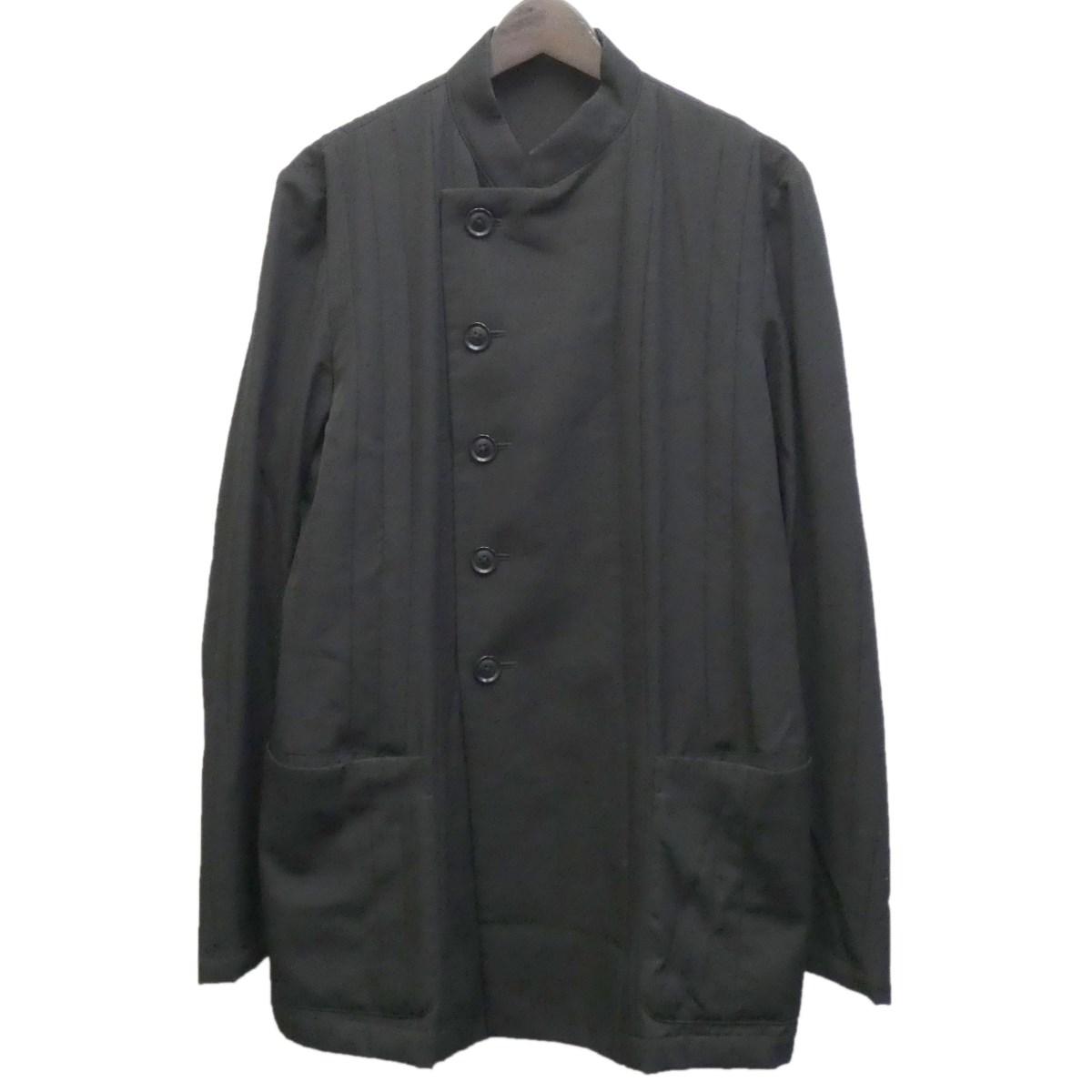 【中古】YOHJI YAMAMOTO pour homme 2016SS スタンドカラーダブルジャケット ブラック サイズ:2 【090120】(ヨウジヤマモトプールオム)