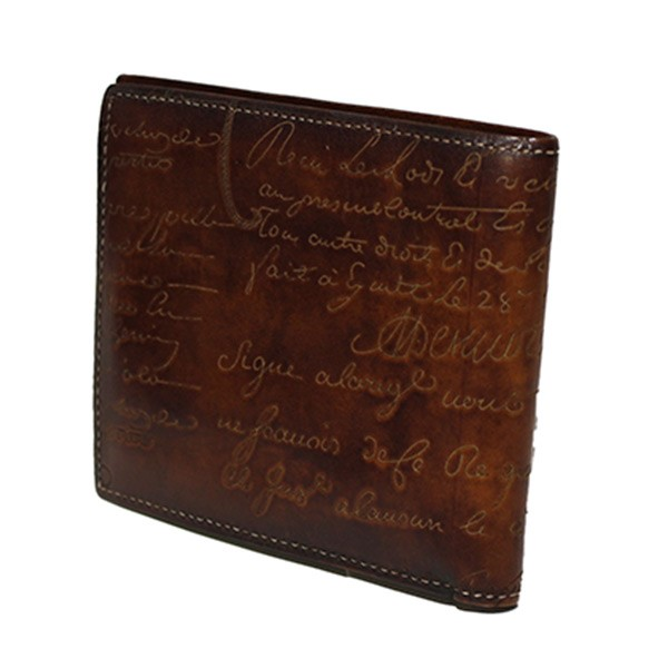 【中古】Berluti 2つ折り財布/MAKORE レザー ウォレット ブラウン サイズ:- 【110120】(ベルルッティ)