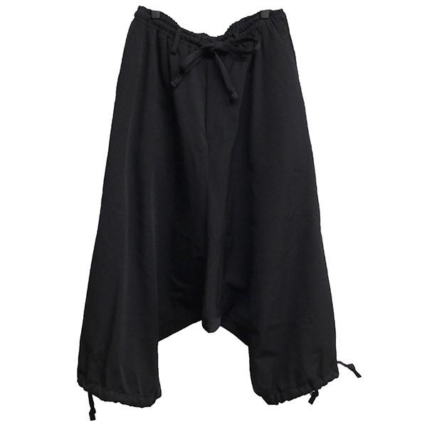 【中古】YOHJI YAMAMOTO pour homme シワギャバ サルエルパンツ ブラック サイズ:3 【120120】(ヨウジヤマモトプールオム)