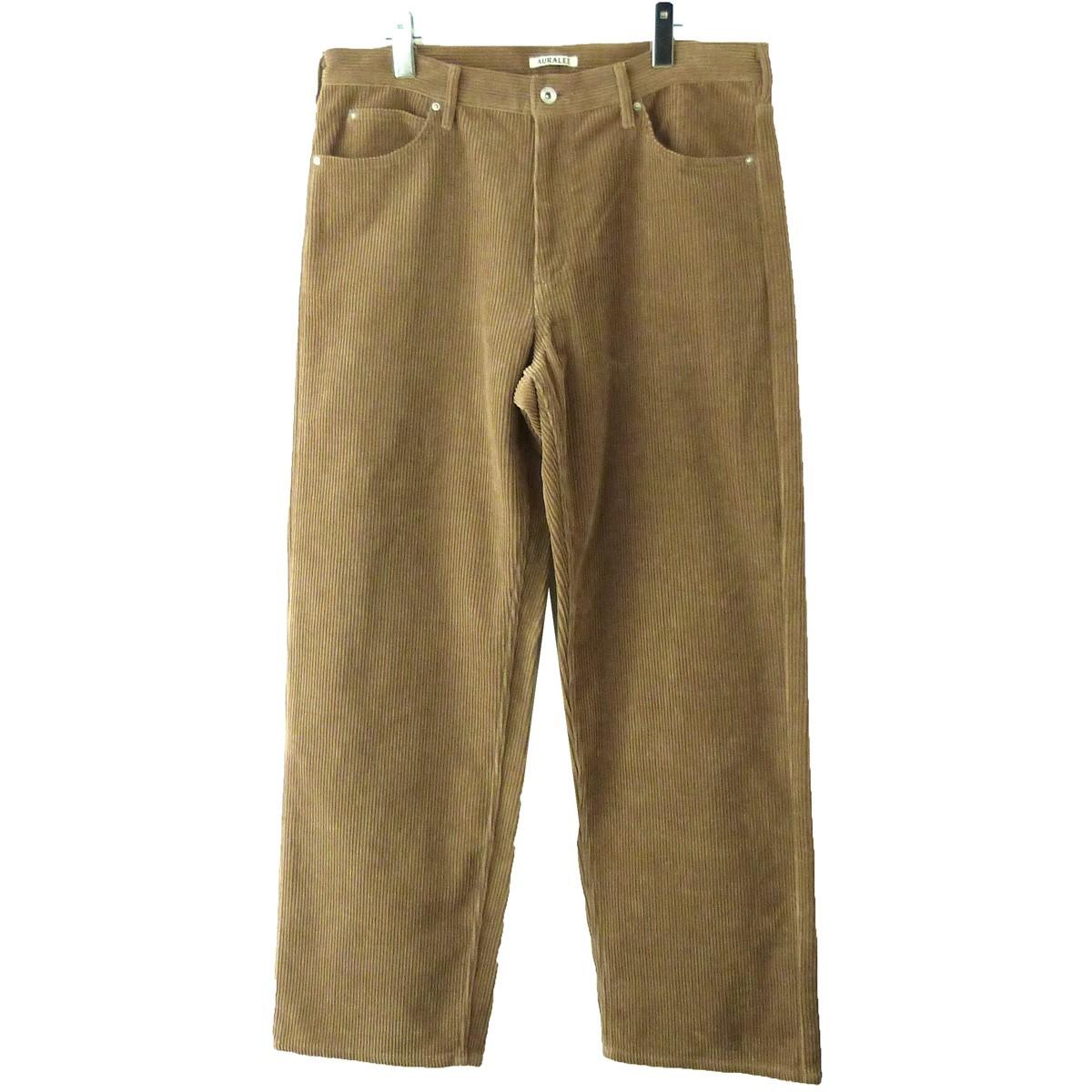 【中古】AURALEE 19AW「WASHED CORDUROY 5P PANTS」コーデュロイパンツ ベージュ サイズ:5 【140120】(オーラリー)