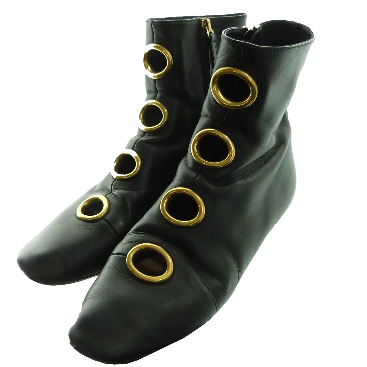 【中古】VALENTINO ハトメサイドZIPブーツ ブラック サイズ:39 【160120】(ヴァレンチノ)