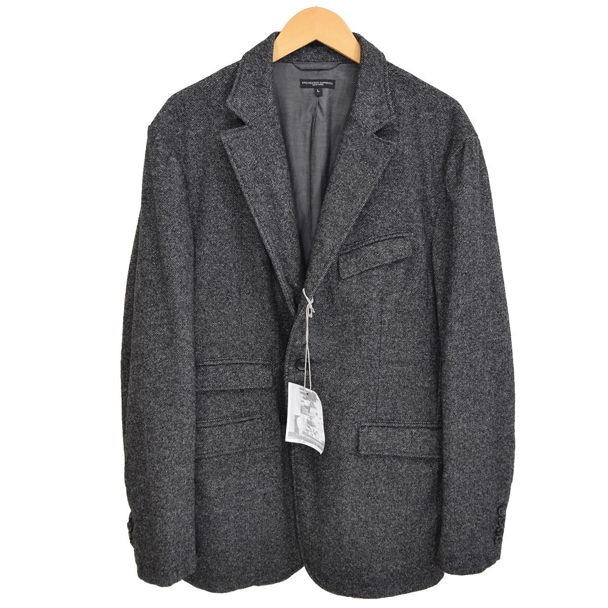 【中古】Engineered Garments Andover Jacket-Wool Homespun アンドーバージャケット 2017AW チャコールグレー サイズ:L 【160120】(エンジニアードガーメンツ)