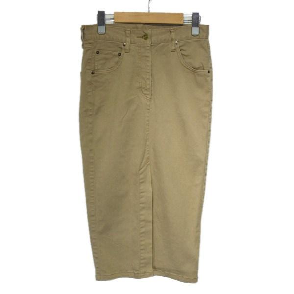 【中古】DEUXIEME CLASSE 2019SS 製品染めタイトスカート ベージュ サイズ:34 【170120】(ドゥーズィエムクラス)