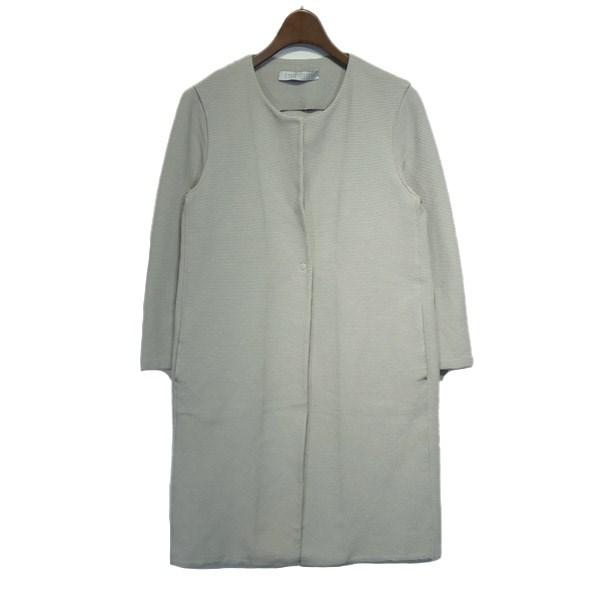 【中古】HARRIS WHARF LONDON ノーカラーコート グレー サイズ:40 【170120】(ハリスワーフロンドン)