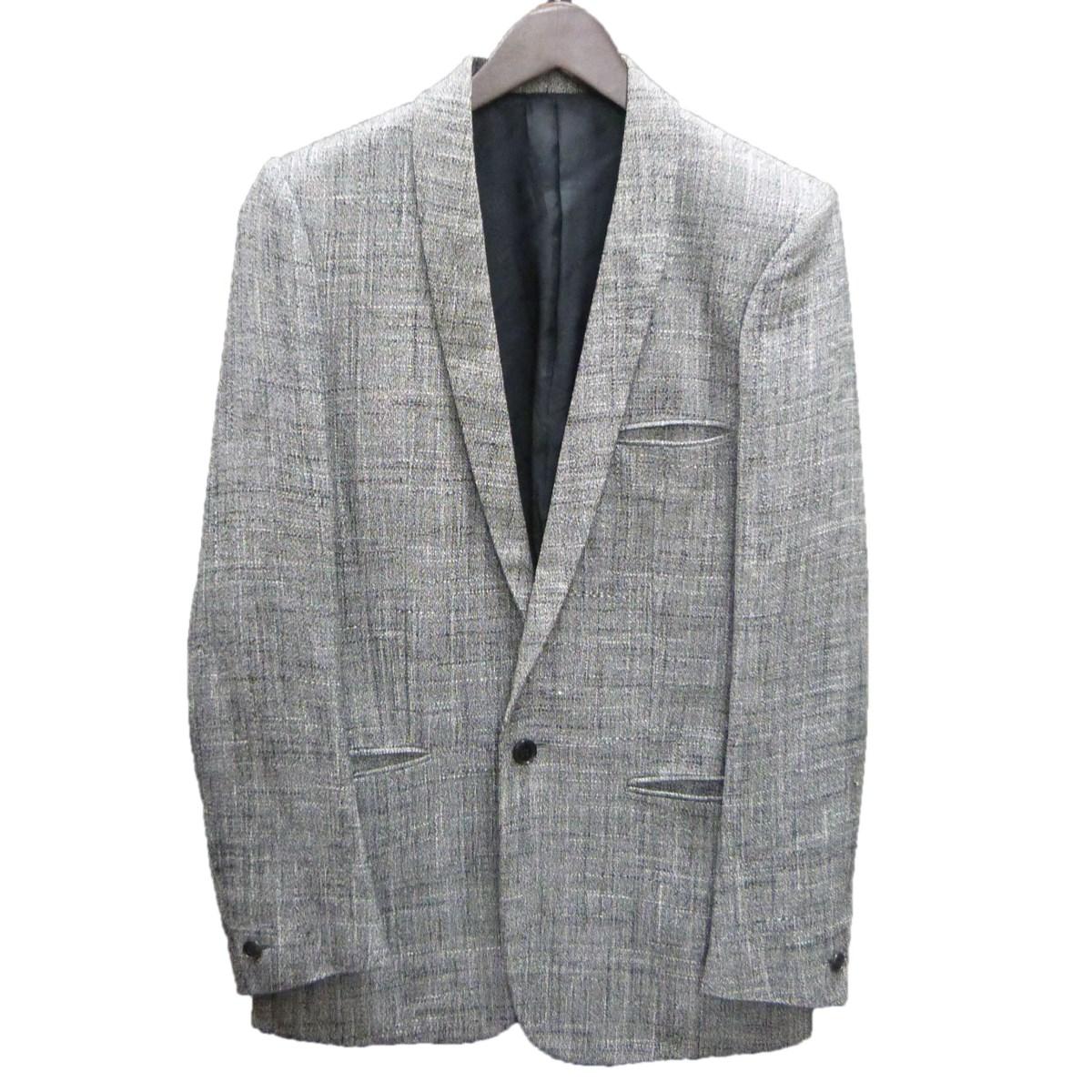 【中古】JOHN LAWRENCE SULLIVAN ショールカラージャケット グレー サイズ:36 【170120】(ジョンローレンスサリバン)