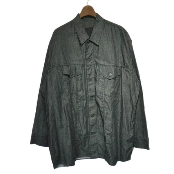 【中古】LAD MUSICIAN 2018SS シャツジャケット グレー サイズ:42 【170120】(ラッドミュージシャン)