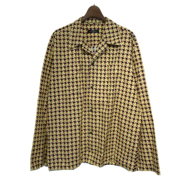 【中古】SYU 総柄オープンカラーシャツ イエロー サイズ:2 【170120】(シュウ)