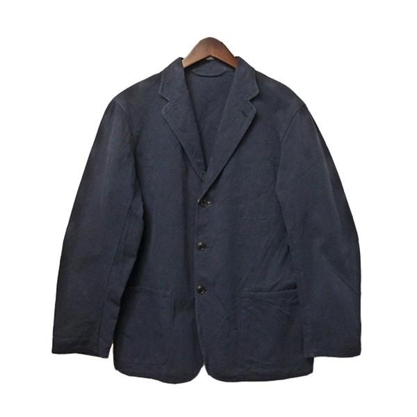 【中古】COMOLI コットンツイルジャケット 3Bコットンジャケット ネイビー サイズ:2 【180120】(コモリ)