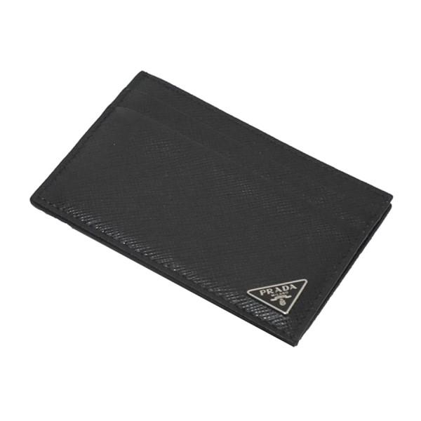 【中古】PRADA カード ケース マネー クリップ ブラック サイズ:- 【180120】(プラダ)