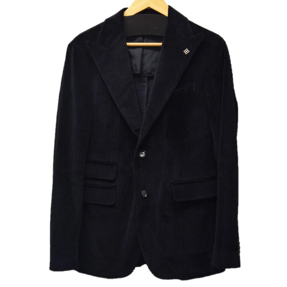 【中古】TAGLIATORE xBEAMS ピークドコーデュロイジャケット ブラック サイズ:46 【180120】(タリアトーレ)
