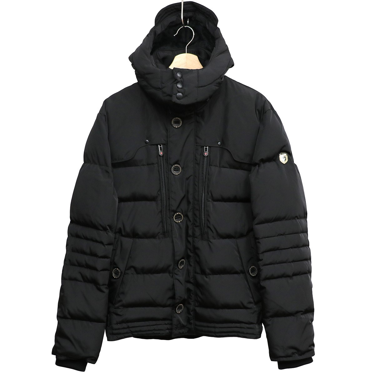 【中古】WELLENSTEYN MOTORO裏起毛防水ダウンジャケット ブラック サイズ:L 【180120】(ウェレンステイン)
