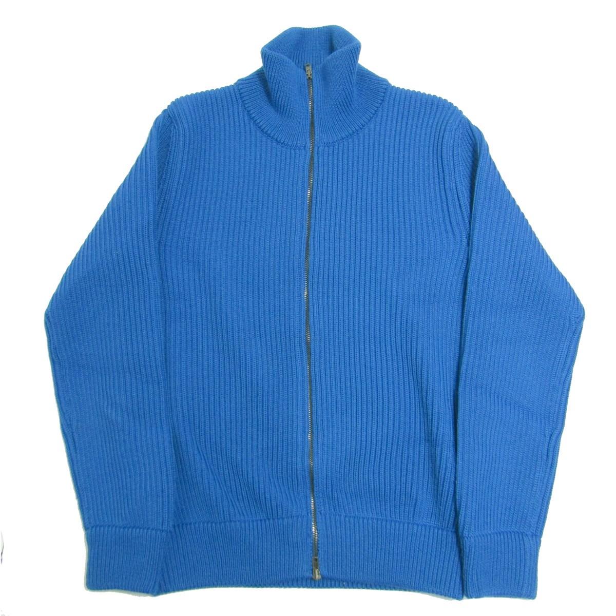 【中古】Martin Margiela14ドライバーズニット ジップアップニット セーター ブルー サイズ:S
