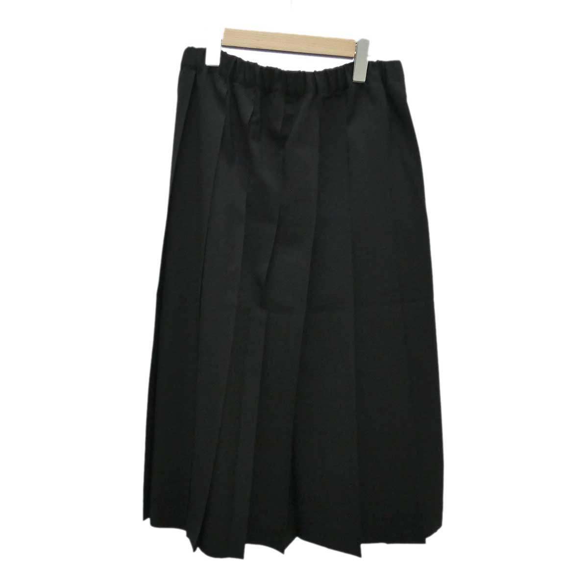 【中古】COMME des GARCONS COMME des GARCONS ウールプリーツスカート ブラック サイズ:M 【200120】(コムデギャルソンコムデギャルソン)