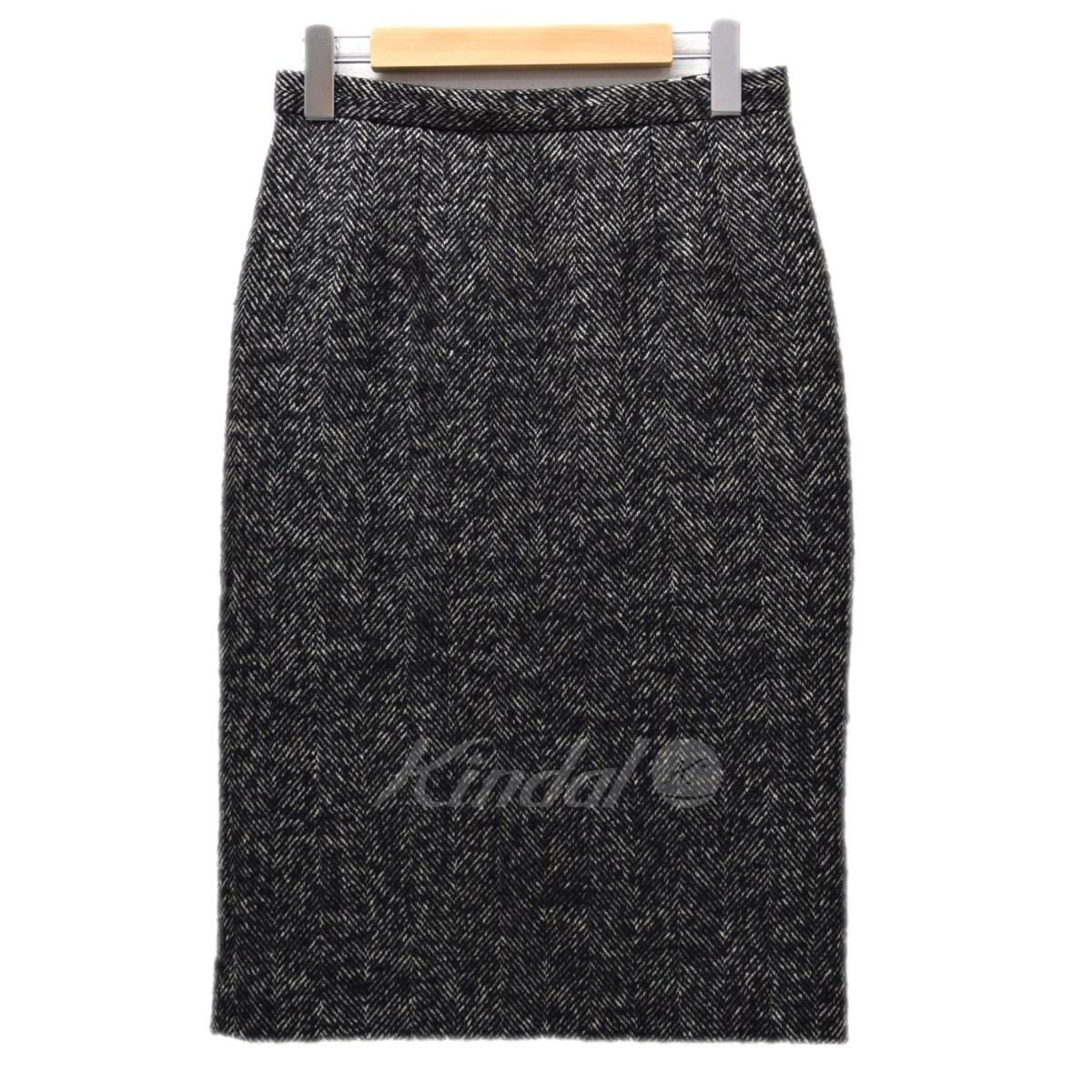 【中古】DOLCE&GABBANA ヘリンボンツイードスカート ブラック サイズ:40 【210120】(ドルチェアンドガッバーナ)