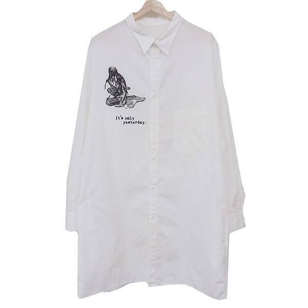 【中古】YOHJI YAMAMOTO pour homme19SS ITS ONLYシャツ HH-B76-032 ホワイト サイズ:4