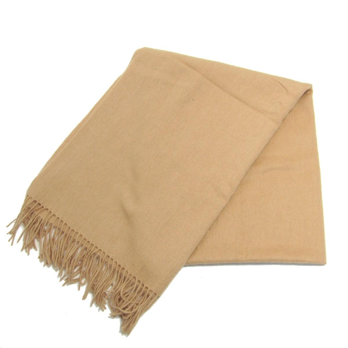 【中古】ACNE STUDIOS Virgin Wool フリンジマフラー スカーフ ベージュ サイズ:70×200 【220120】(アクネストゥディオズ)