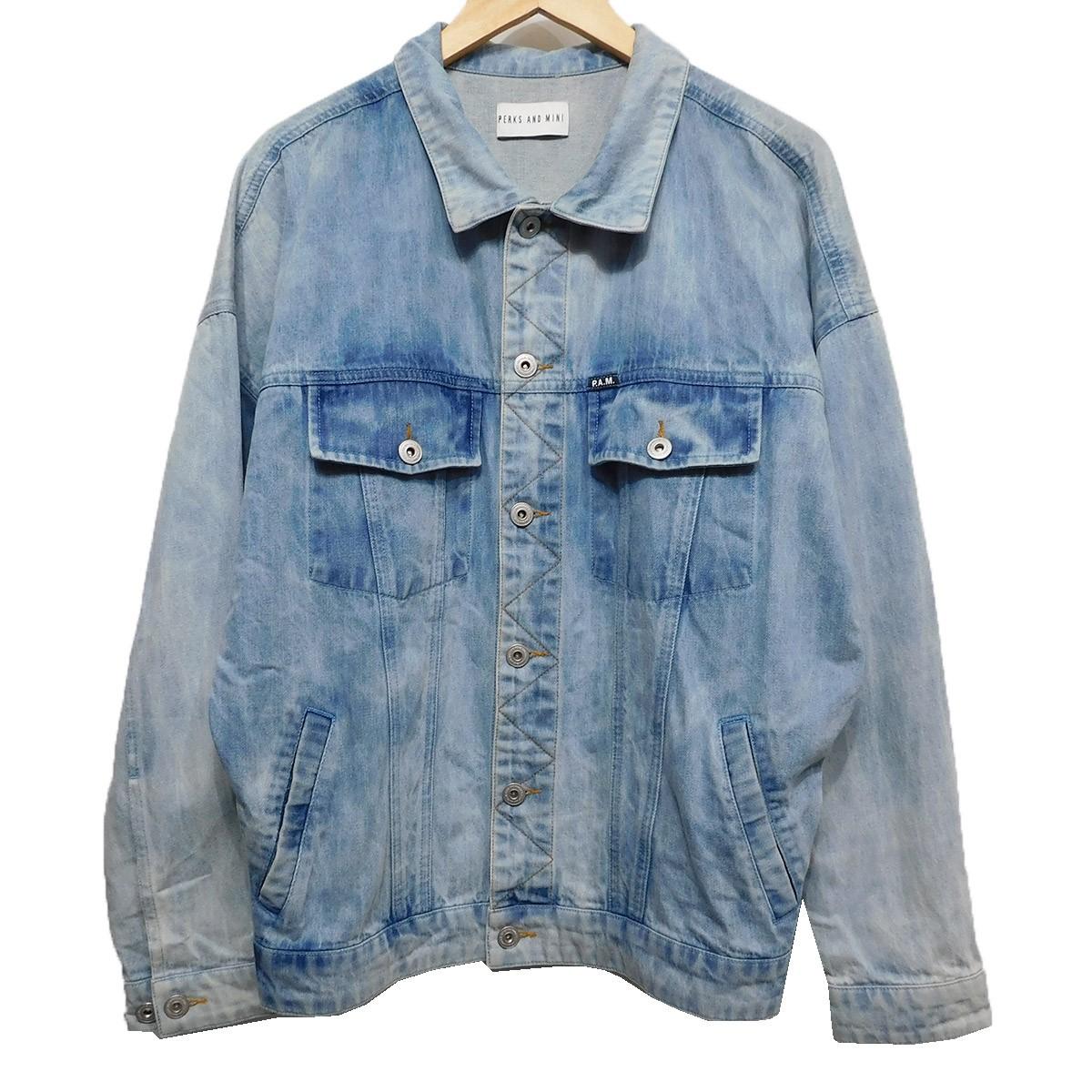 【中古】PAM(PERKS AND MINI) 18SS PSY LIFE Denim Jacket デニムトラッカージャケット インディゴ サイズ:XS 【220120】(パム パークスアンドミニ)