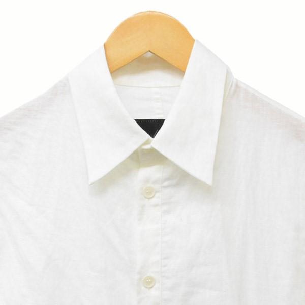 YOHJI YAMAMOTO NOIR変形シャツ シャツ ホワイト サイズ 1tCsrhQd