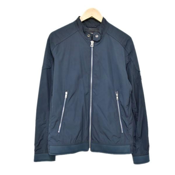 【中古】DIESEL J-EIKO JACKET シングルライダース 中綿ジャケット ネイビー サイズ:S 【240120】(ディーゼル)