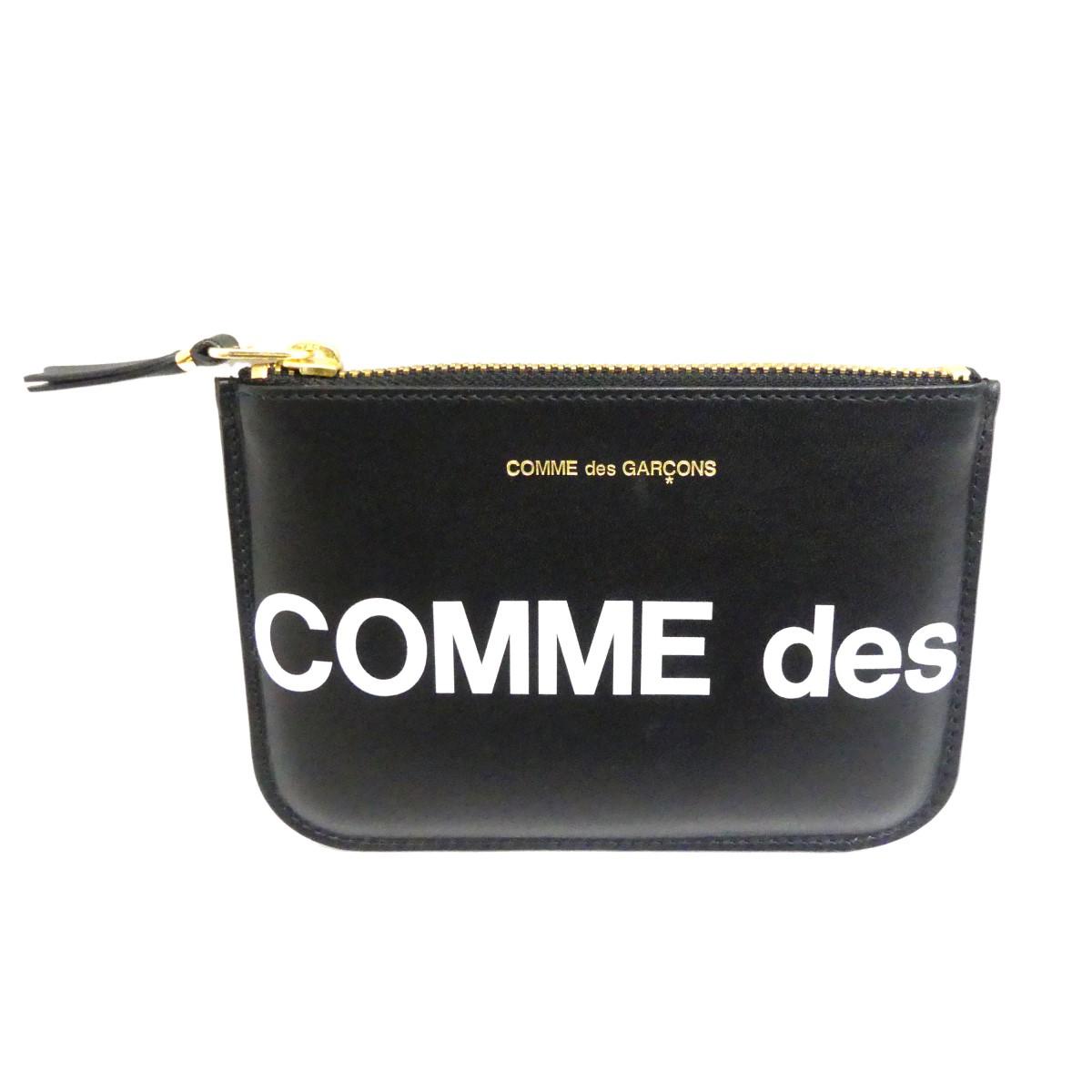 【中古】COMME des GARCONS HUGE LOGO COINCASE コインケース ブラック 【240120】(コムデギャルソン)