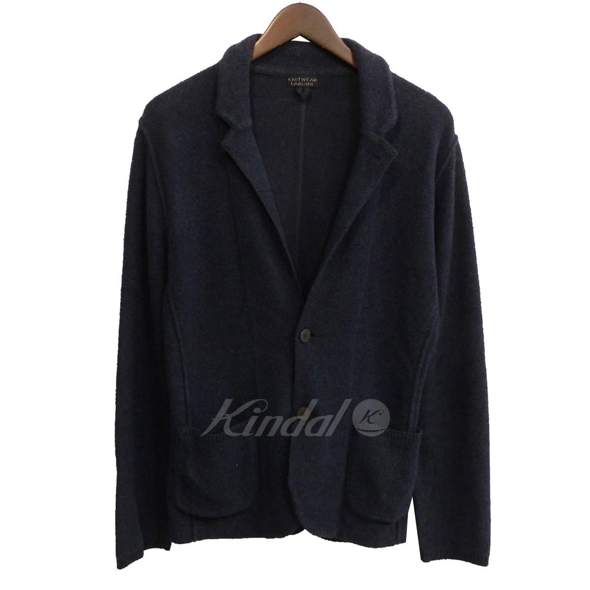 【中古】LARDINI KNITWEAR パイルノッチドラペル2Bジャケット ネイビー サイズ:S 【240120】(ラルディーニ)