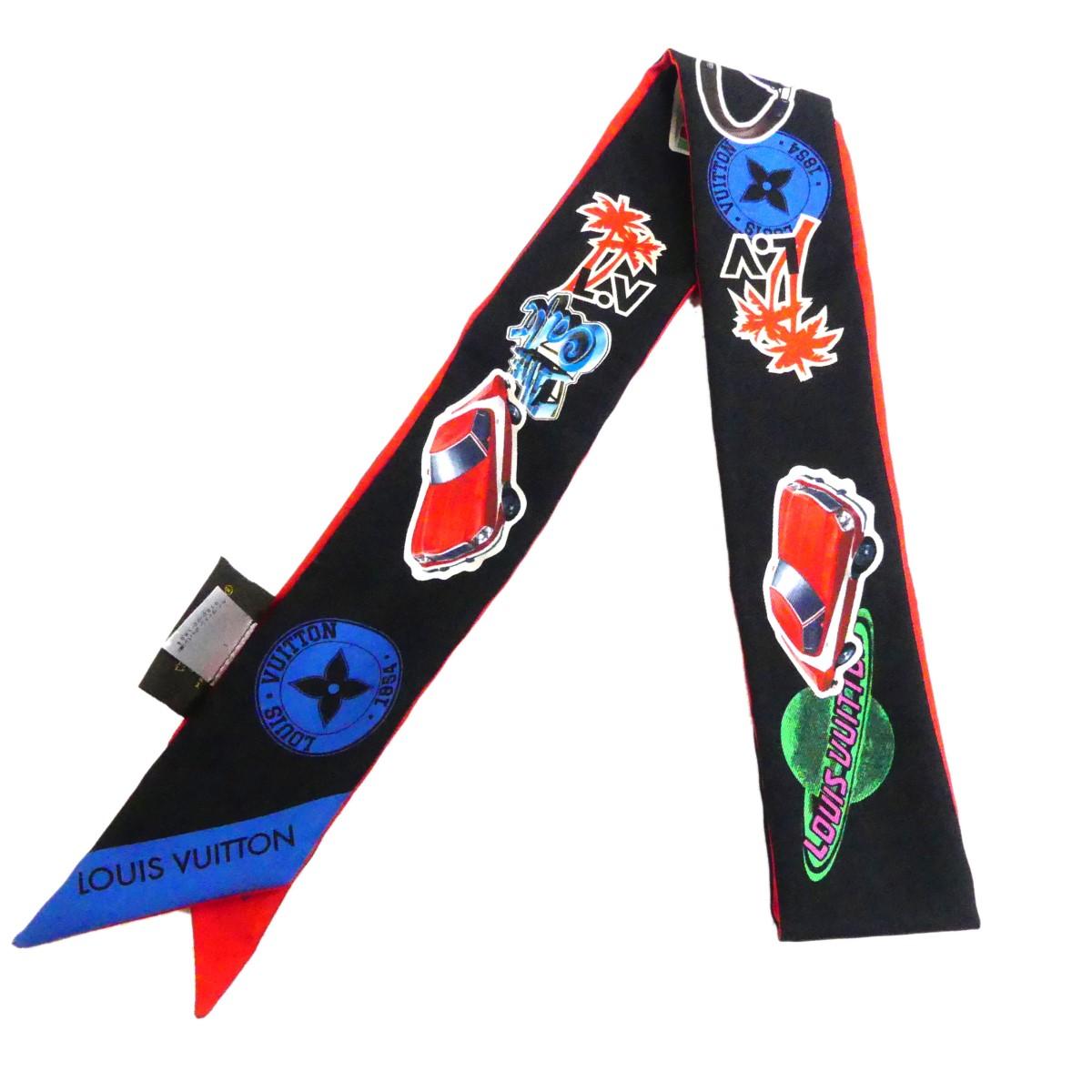 【中古】LOUIS VUITTONM62746 World Tour BB Bandeau シルクスカーフ マルチカラー