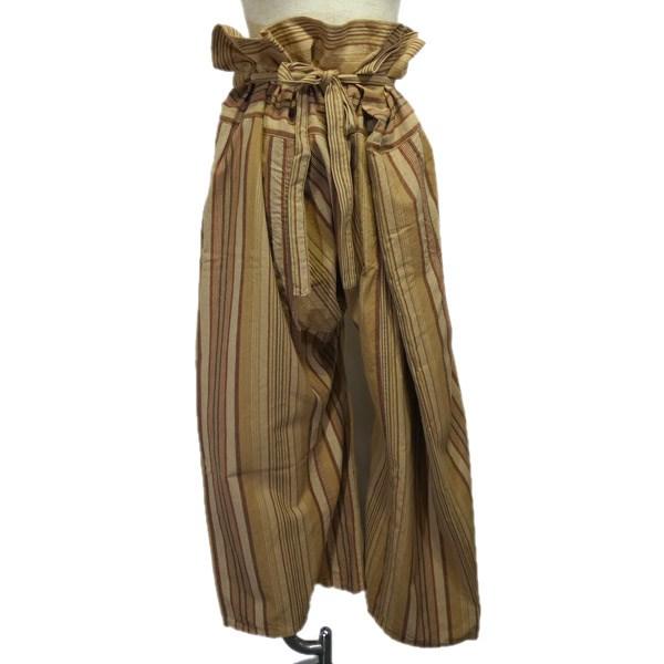 【中古】Engineered Garments 「FISHERMAN PANT」 フィッシャーマンパンツ ストライプタイパンツ ベージュ サイズ:S 【260120】(エンジニアードガーメンツ)