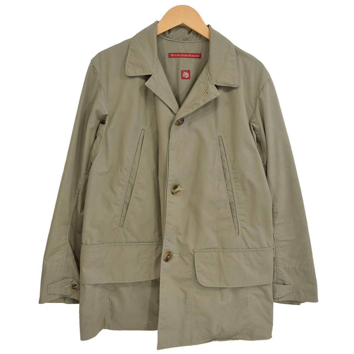 【中古】Hunting Jacket Research Short Coat ショートコート ハンティングジャケット HJR-078 2013AW カーキ サイズ:L 【260120】(ハンティングジャケットリサーチ)