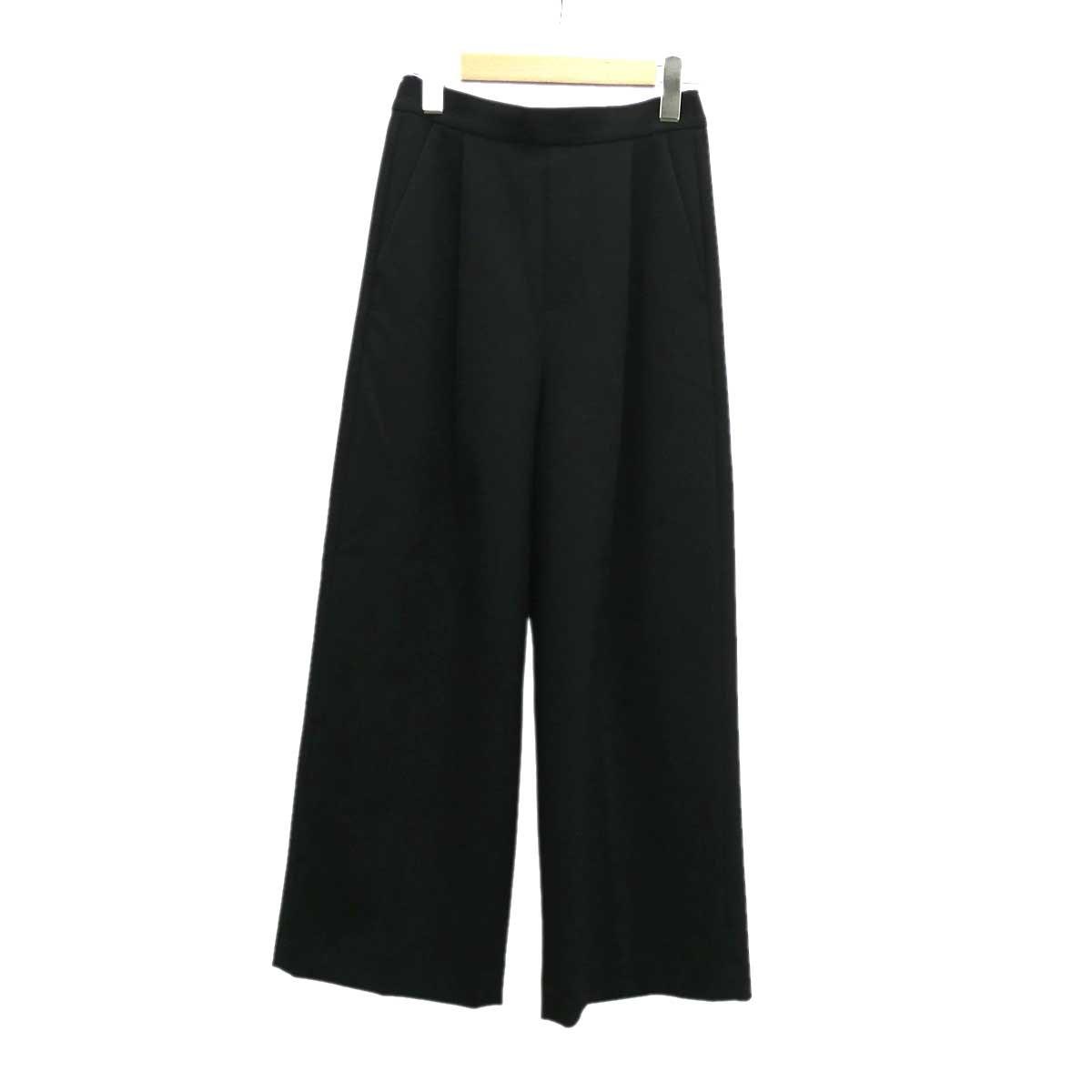 【中古】ENFOLD ワイドパンツ ブラック サイズ:34 【280120】(エンフォルド)